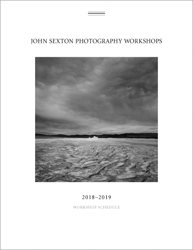 John Sexton Photography workshops 2018-2019